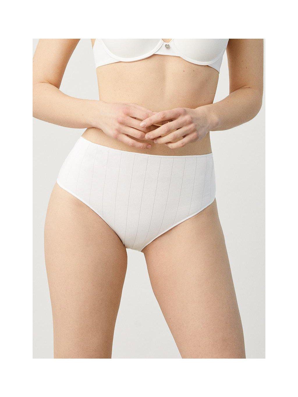 bílé pohodlné kalhotky