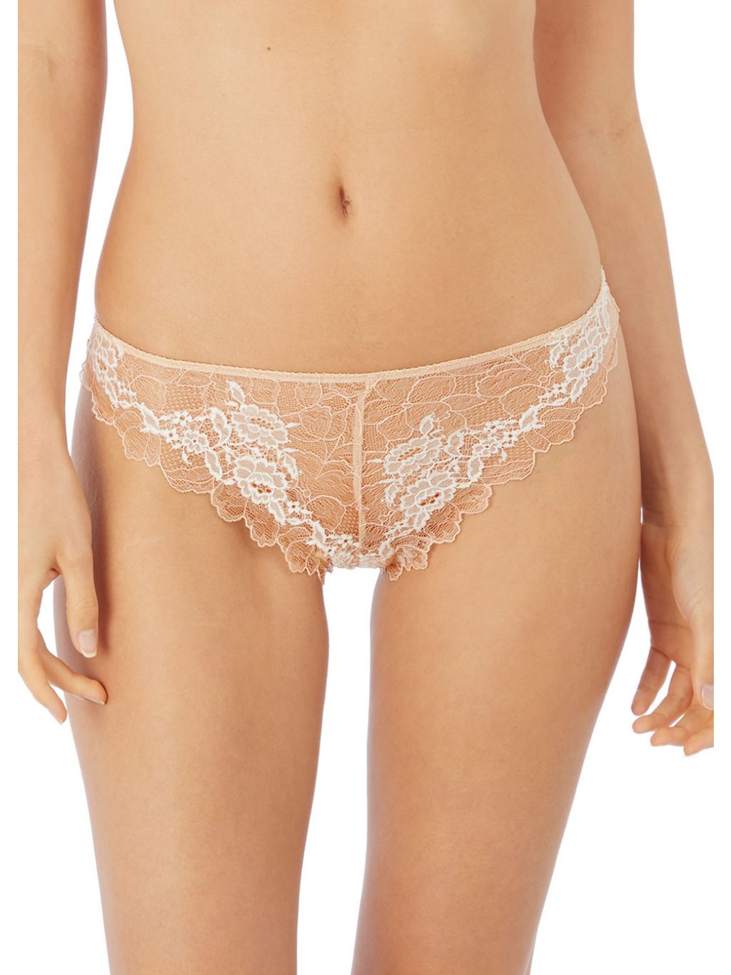 WE135007 CAC primary Wacoal Lingerie Lace Perfection Cafe Creme Tanga
