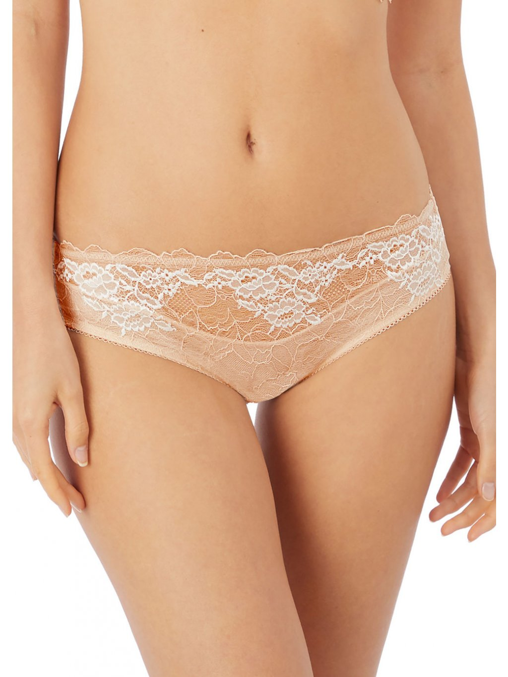 WE135005 CAC primary Wacoal Lingerie Lace Perfection Cafe Creme Brief