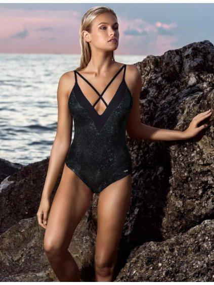 luxusní třpytivé moderní celkové plavky léto 2019 Leonisa chickie.cz