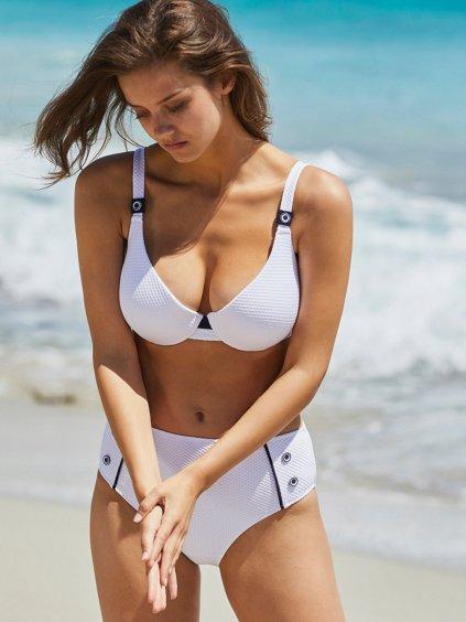 bílé plavky vysoké kalhotky chickie.cz