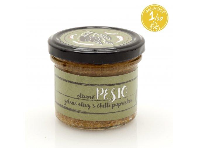 824 pesto zelene olivy s chilli paprickou 120 g