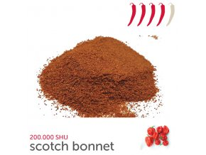 136 scotch bonnet chilli prasek 25 g