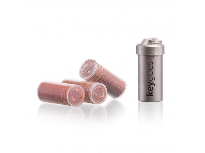 1271 7 keygoes mini titanium diy klucenka 3 prazdne naplne