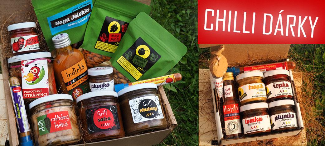 Chilli dárkové koše - chilli dárky
