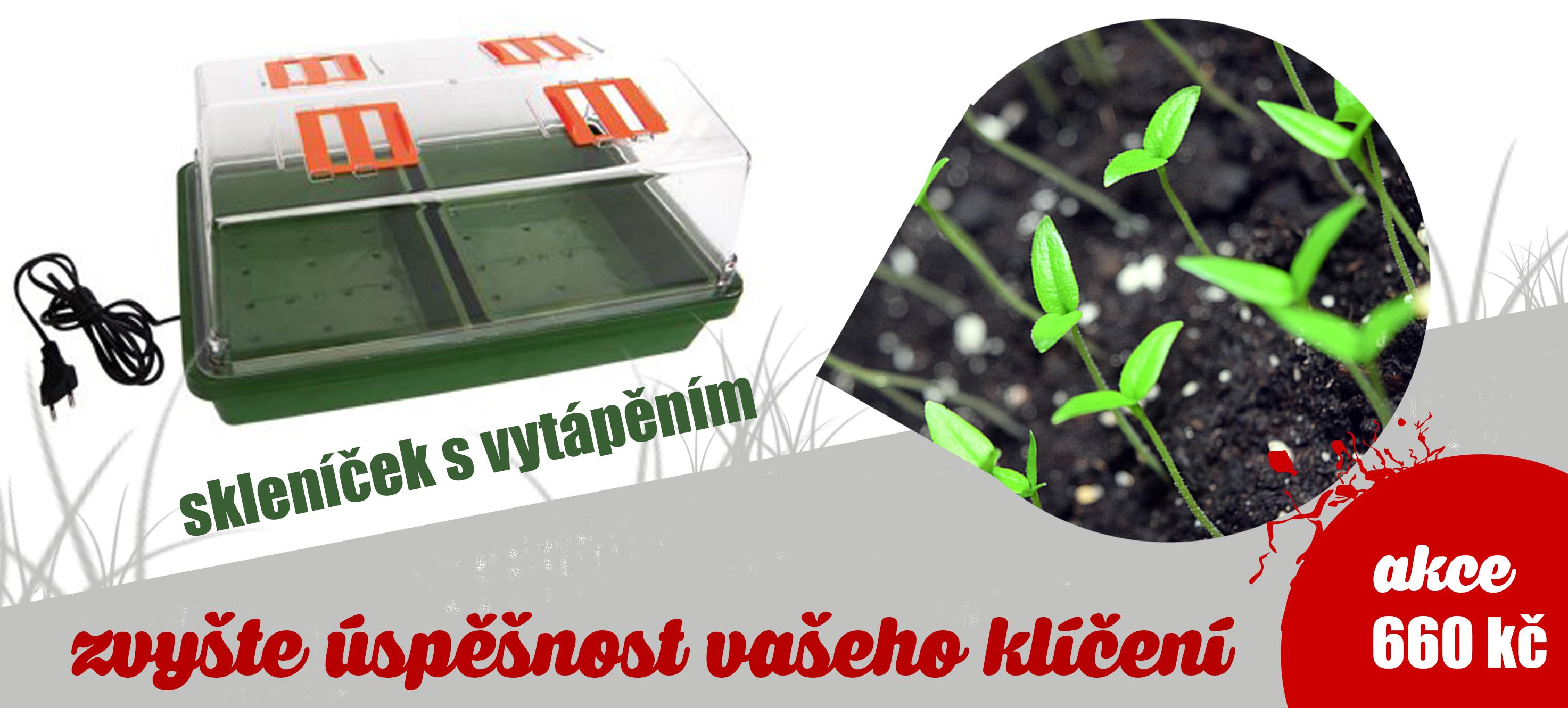 Vytápěný skleníček pro klíčení semínek a začátek pěstování.