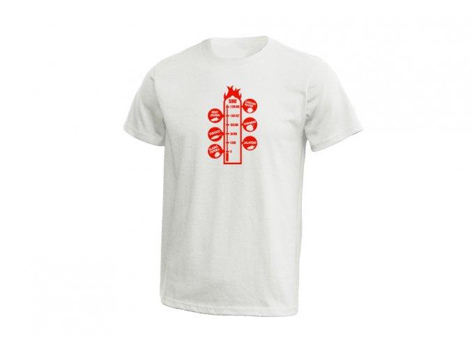 21 Pánské tričko SHU stupnice chilli bílá