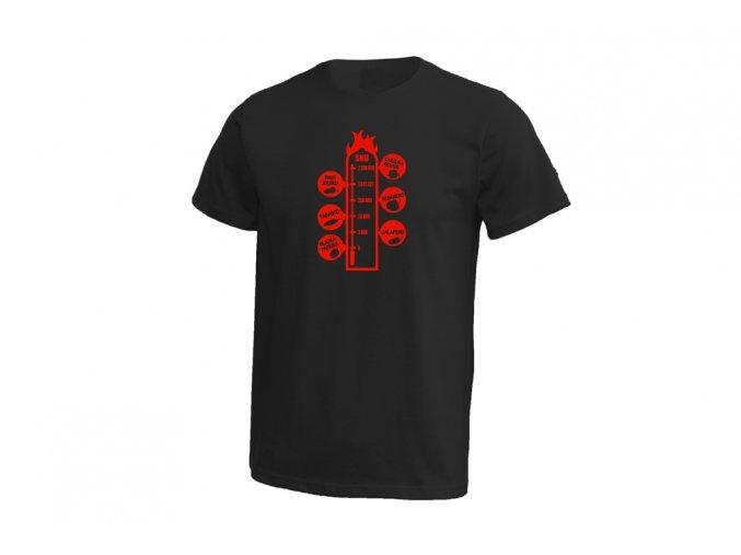 21 Pánské tričko SHU stupnice chilli černá