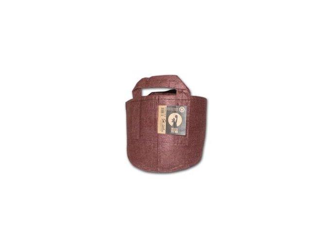 Textilní květináč Root pouch Boxer brown, nedegradující, 12l s uchem, 25x21cm