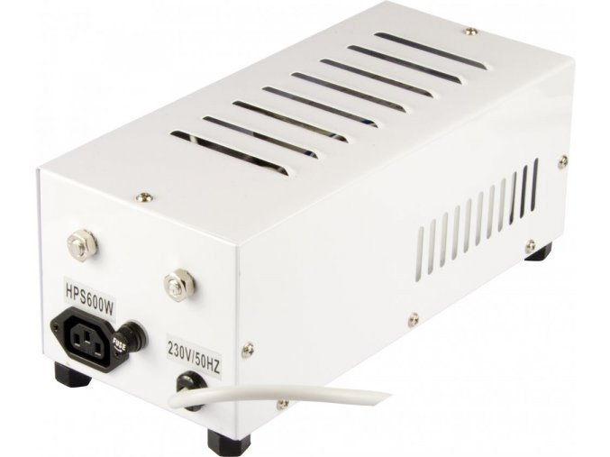 Magnetický předřadník zaboxovaný600W,HPS i MH, ocelový box, vč. kabelu