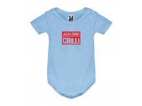 dětské body žrout chilli modré
