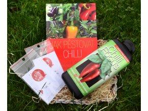 Dárkový koš chilli pro pěstitele. Dárkové balení chilli.