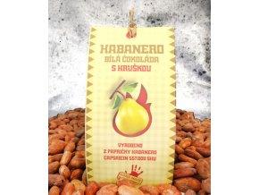 Habanero Čokoláda bíla s hruškou 45g