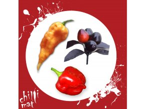 mix jolokia peach, black pearl, habanero red
