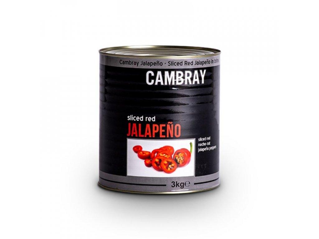 Nakládané červené Jalapeño chilli papričky 3 kg