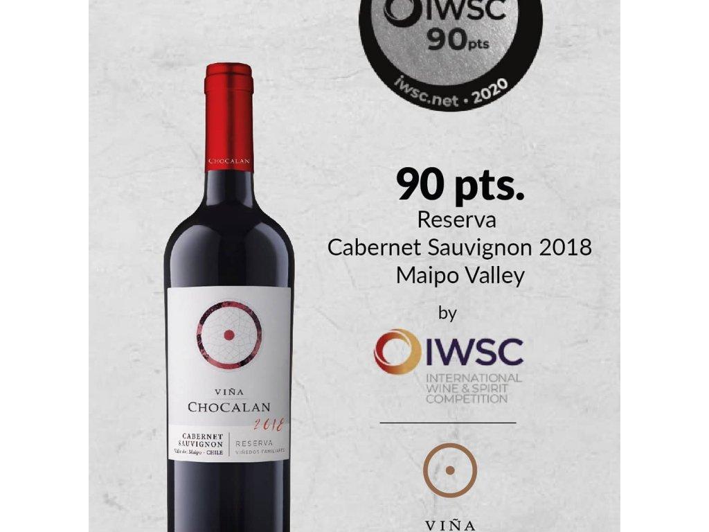 Chocalán Cabernet Sauvignon Reserva 2019, 750ml