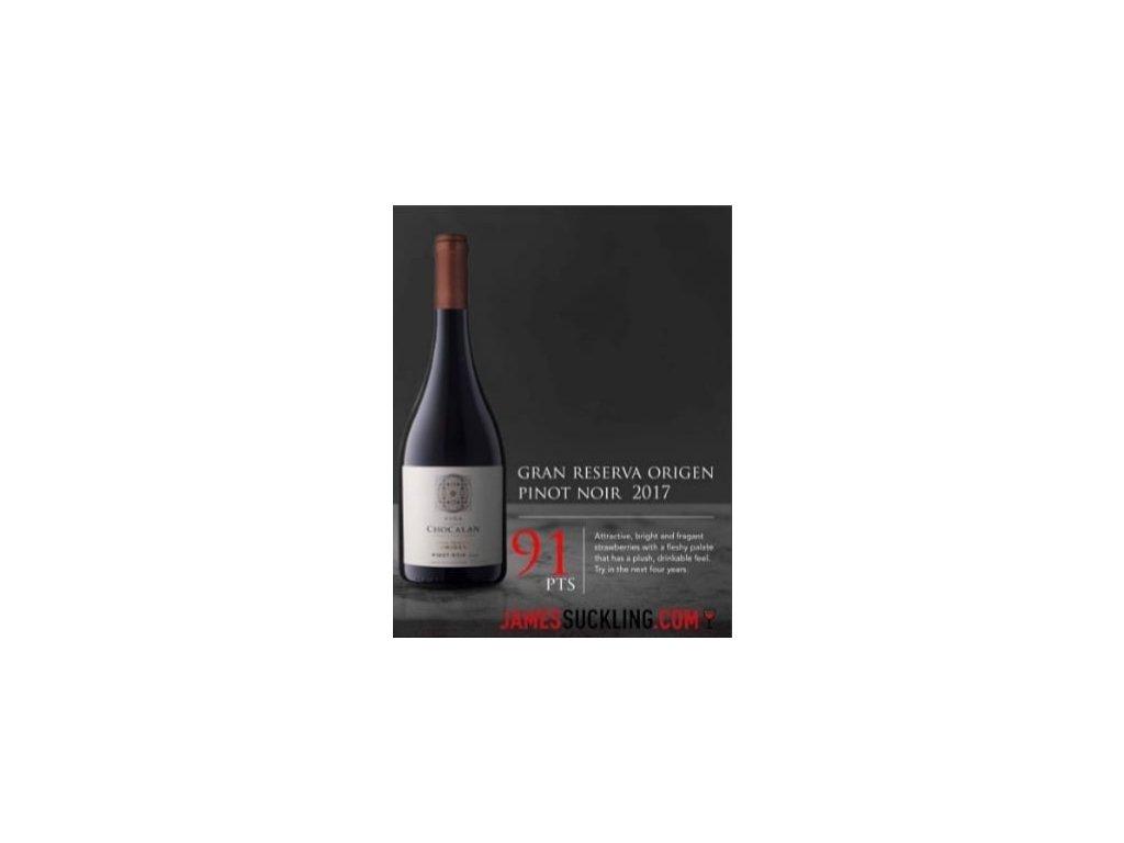 Chocalán Pinot Noir Gran Reserva 2018, 750ml