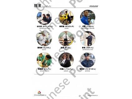 Japonské jazykové karty - Povolání