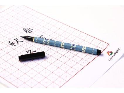 světle modré pero 3