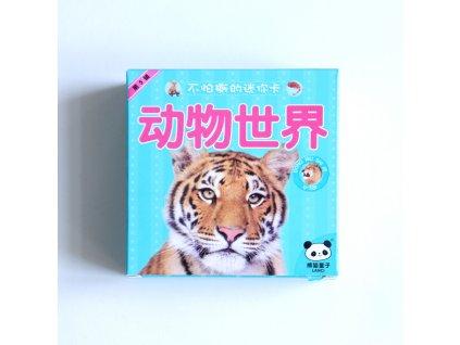 Čínské znakové kartičky – zvířata z divočiny