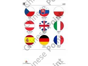 Japonské obrázkové karty - Státy
