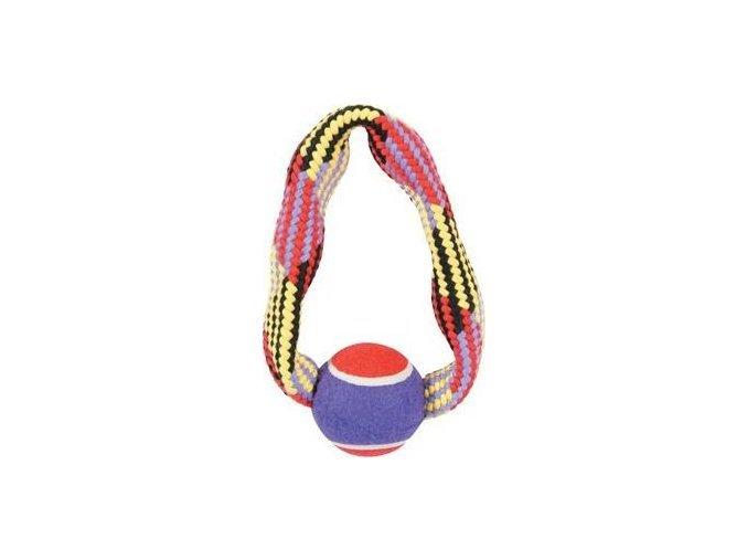34280 hracka pes tennis ball rope kruh 23cm zolux