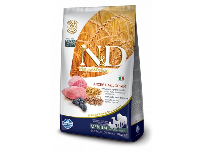 nd low grain dog adult medium lamb blueberry