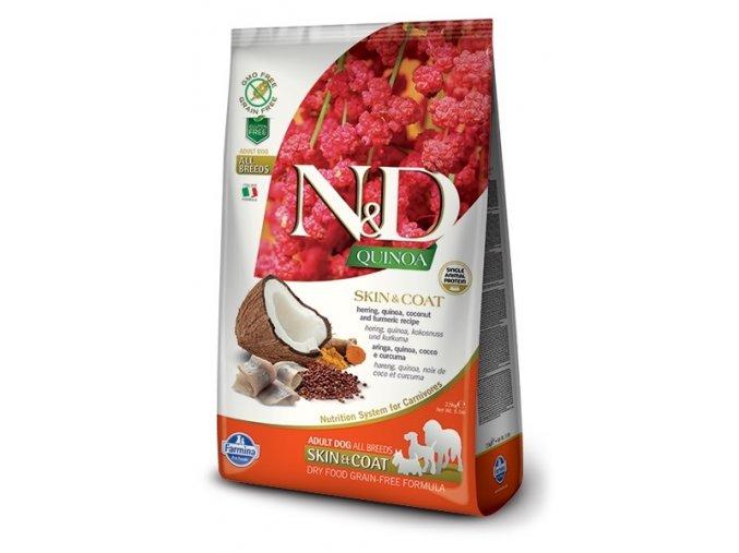 nd quinoa all adult dog skincoat herring