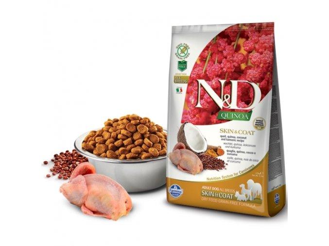 N&D Quinoa DOG Skin & Coat Quail & Coconut 7kg