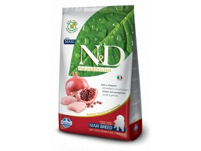 17096 nd grain free dog puppy maxi chicken pomegranate
