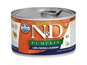 100791 n d pumpkin dog konz adult lamb blueberry mini 140 g