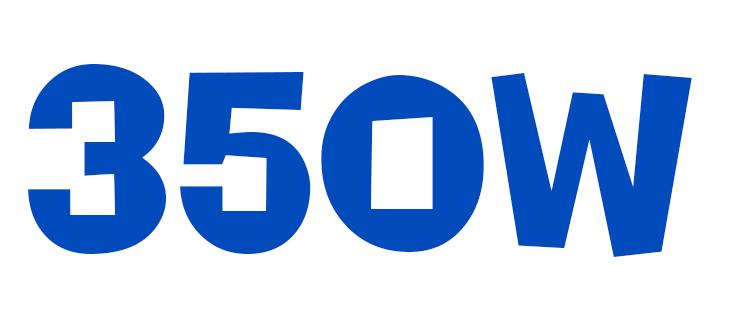Maximální výkon do 350W