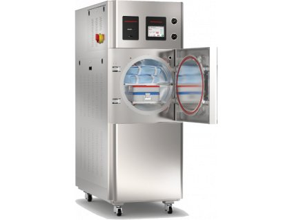gs double door hospital autoclave open