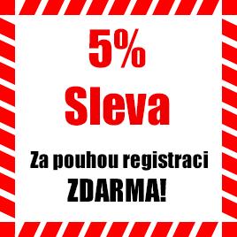 5% sleva za registraci!