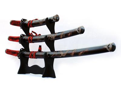Sada samurajských mečů DARK RED