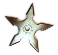 Vrhací hvězdice NATTY pěticípá stříbrná