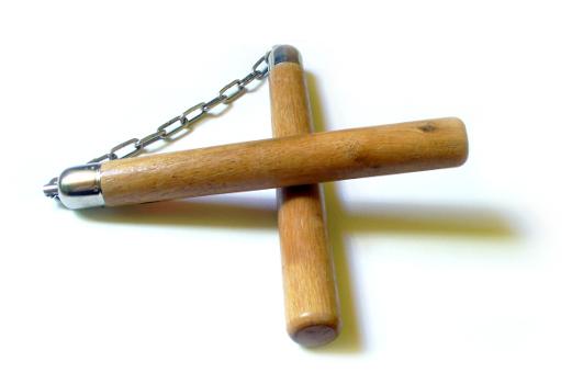 Dřevěné nunchaku STRAIGHT