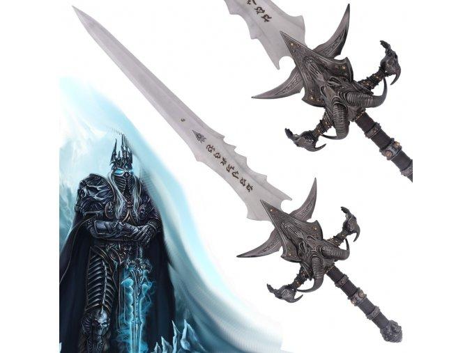 """Meč krále lichů """"FROSTMOURNE"""" - ocelová detailní replika"""