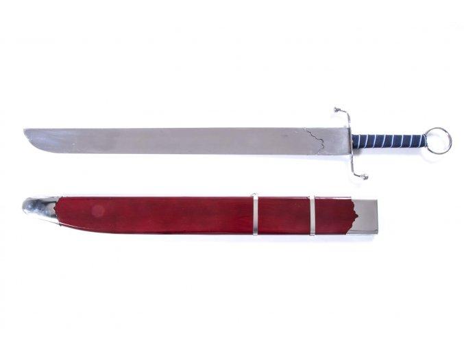 """Čínský Wushu tréninkový meč """"NAN DAO"""" s dřevěnou pochvou"""