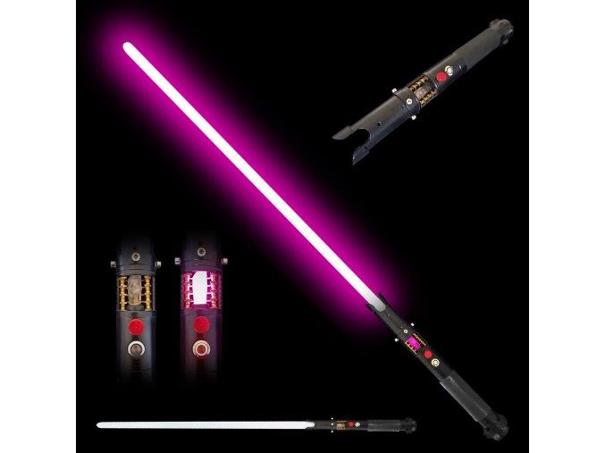 """Světelný meč """"MACE WINDU"""" Plně kontaktní s unikátním krystalem!"""