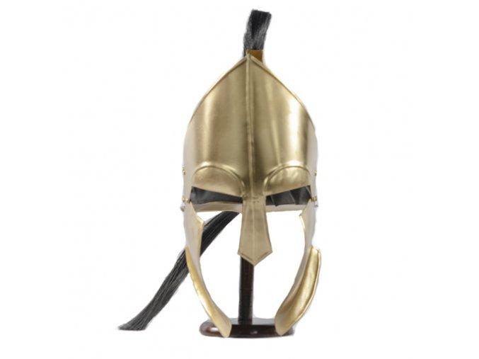 """Ocelová spartská helma """"GHOST OF SPARTA"""" II. jakost"""