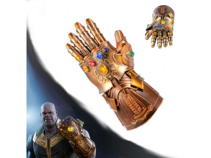 "Thanosova rukavice ""INFINITI GAUNTLET"" HQ ocelová replika"