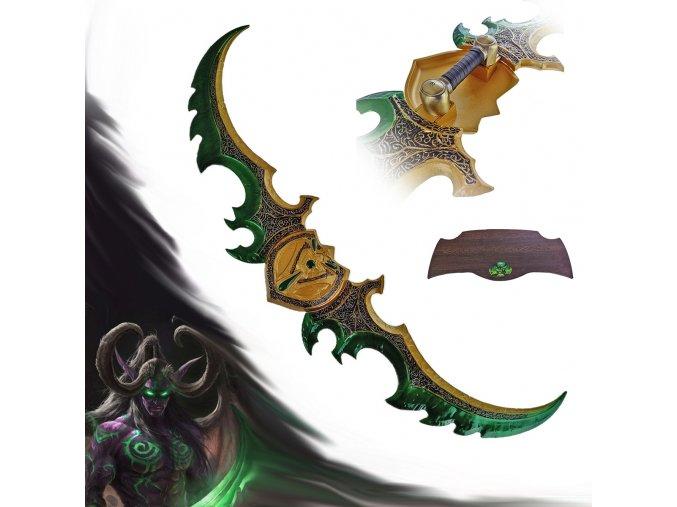 "Meč Illidana Stormrage ""WARGLAIVE OF AZZINOTH"" World of Warcraft"