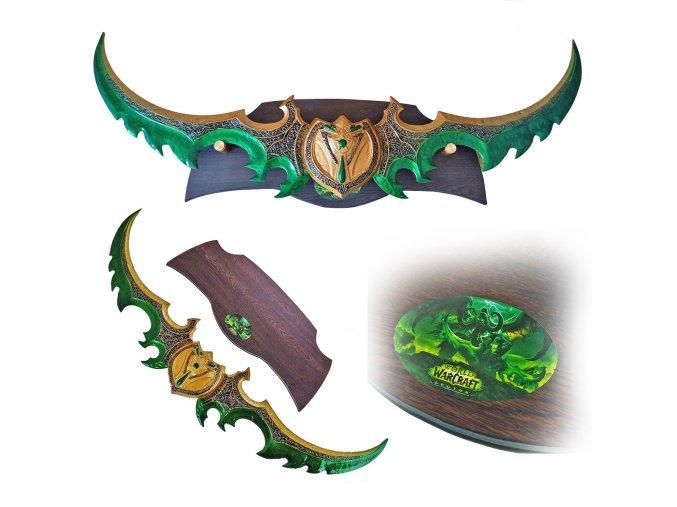 "Meč Illidana Stormrage ""WARLGAIVE OF AZZINOTH"" World of Warcraft"