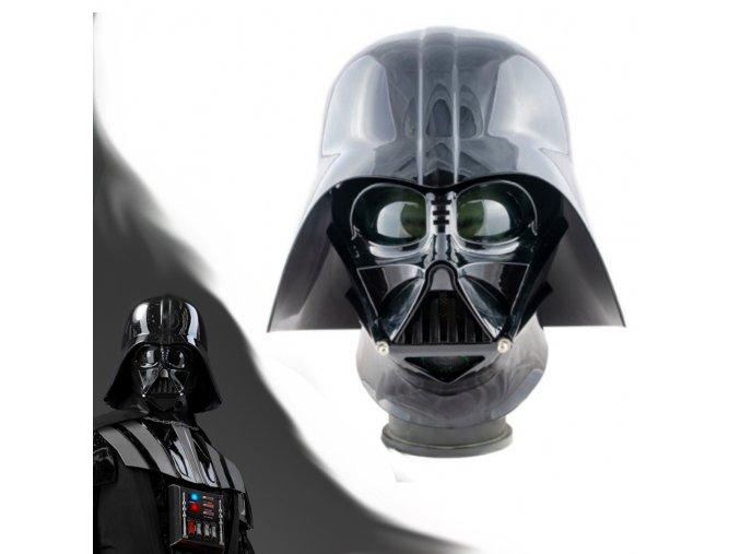 "Detailní helma ""DARTH VADER"" nositelná replika s modulátorem hlasu!"