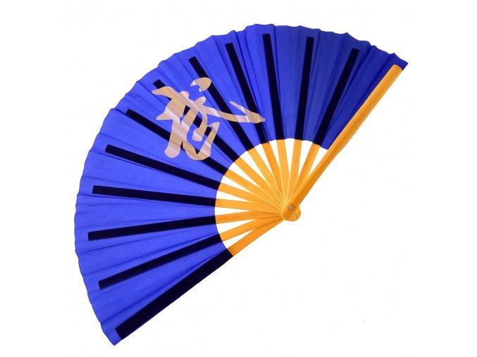 """Dřevěný Tai-chi vějíř """"DA SHANZI"""" modrý"""