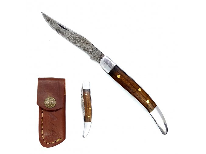 """Damaškový mini nožík """"DAMASCUS FROM POCKET"""""""