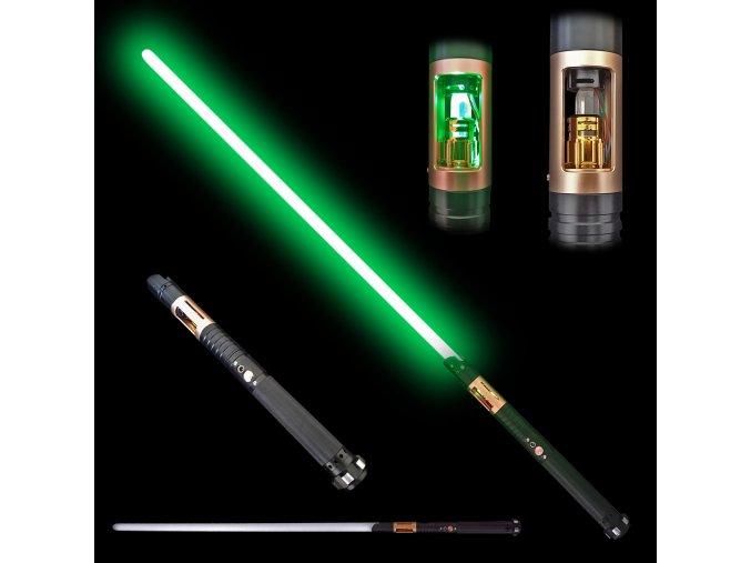 """Světelný meč """"JEDI SENTINEL"""" Plně kontaktní s unikátním krystalem! Multi-color!"""
