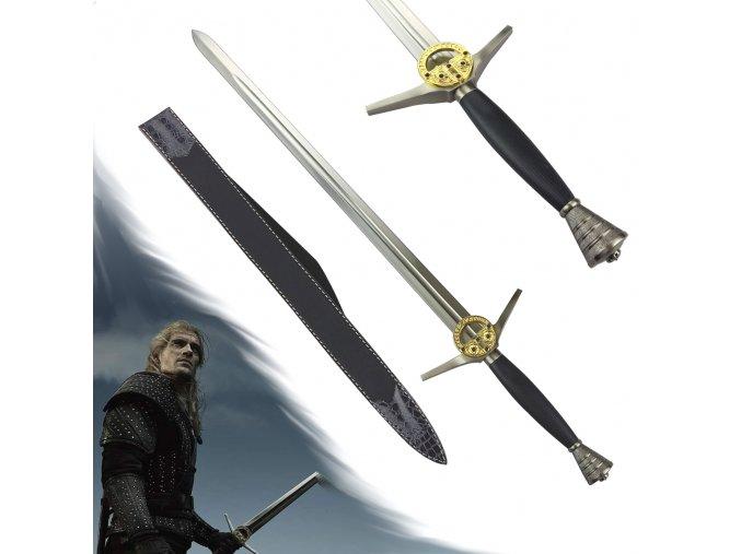 """Funkční Zaklínačský meč """"NETFLIX VERSION"""" + pochva s popruhem"""