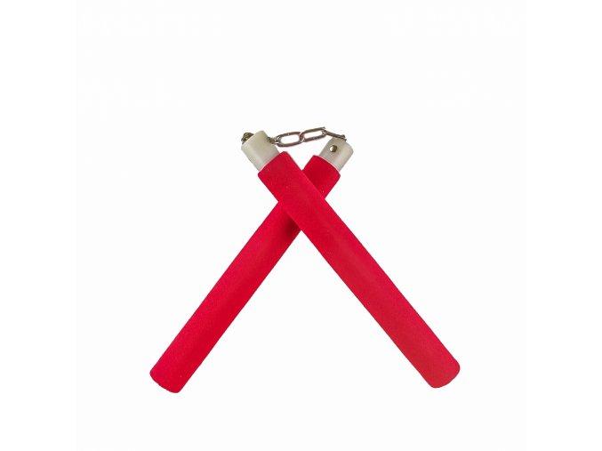 """Tréninkové nunchaku """"RED"""" s řetězem"""